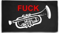 """Zur Fahne / Flagge (ca. 150x100cm) """"Fuck Trompete"""" für 16,00 € gehen."""
