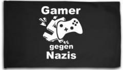 """Zur Fahne / Flagge (ca. 150x100cm) """"Gamer gegen Nazis"""" für 16,00 € gehen."""