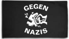 """Zur Fahne / Flagge (ca. 150x100cm) """"Gegen Nazis"""" für 16,00 € gehen."""