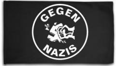 """Zur Fahne / Flagge (ca. 150x100cm) """"Gegen Nazis (rund)"""" für 16,00 € gehen."""