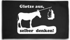 """Zur Fahne / Flagge (ca. 150x100cm) """"Glotze aus, selber denken!"""" für 16,00 € gehen."""