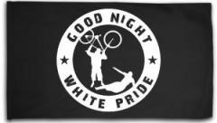 "Zur Fahne / Flagge (ca. 150x100cm) ""Good Night White Pride - Fahrrad"" für 15,60 € gehen."