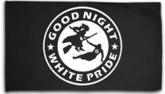 """Zur Fahne / Flagge (ca 150x100cm) """"Good night white pride - Hexe"""" für 16,00 € gehen."""
