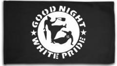 "Zur Fahne / Flagge (ca 150x100cm) ""Good Night White Pride - Oma"" für 16,00 € gehen."