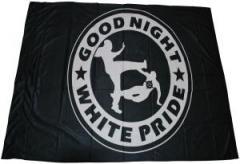"""Zur Fahne / Flagge (ca 150x100cm) """"Good night white pride"""" für 13,00 € gehen."""