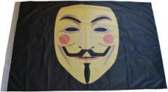 """Zur Fahne / Flagge (ca. 150x100cm) """"Guy Fawkes Maske"""" für 18,52 € gehen."""