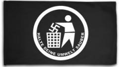 """Zur Fahne / Flagge (ca 150x100cm) """"Halte Deine Umwelt sauber"""" für 16,00 € gehen."""