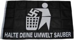 """Zur Fahne / Flagge (ca 150x100cm) """"Halte deine Umwelt sauber"""" für 13,00 € gehen."""