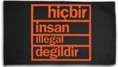 "Zur Fahne / Flagge (ca. 150x100cm) ""hicbir insan illegal degildir"" für 15,60 € gehen."