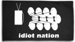 """Zur Fahne / Flagge (ca. 150x100cm) """"Idiot Nation"""" für 16,00 € gehen."""