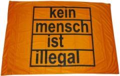 """Zur Fahne / Flagge """"Kein Mensch ist illegal"""" für 12,00 € gehen."""