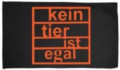 """Zur Fahne / Flagge (ca. 150x100cm) """"Kein Tier ist egal"""" für 15,60 € gehen."""
