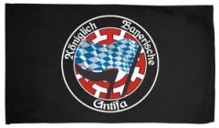 """Zur Fahne / Flagge (ca. 150x100cm) """"Königlich Bayerische Antifa Mühldorf"""" für 18,00 € gehen."""