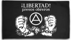 "Zur Fahne / Flagge (ca. 150x100cm) ""Libertad presos obreros!"" für 16,00 € gehen."