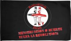 """Zur Fahne / Flagge (ca. 150x100cm) """"Menstruation o muerte"""" für 18,00 € gehen."""