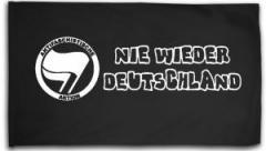 """Zur Fahne / Flagge (ca. 150x100cm) """"Nie wieder Deutschland"""" für 15,60 € gehen."""