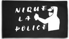 """Zur Fahne / Flagge (ca. 150x100cm) """"Nique la police"""" für 16,00 € gehen."""