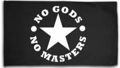 "Zur Fahne / Flagge (ca. 150x100cm) ""No Gods No Masters"" für 16,00 € gehen."