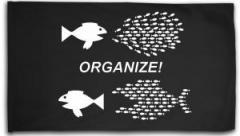 """Zur Fahne / Flagge (ca. 150x100cm) """"Organize! Fische"""" für 16,00 € gehen."""