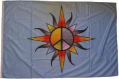 "Zur Fahne / Flagge (ca. 150x100cm) ""Peace (bunt)"" für 15,60 € gehen."