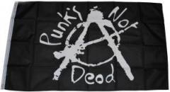 """Zur Fahne / Flagge (ca. 150x100cm) """"Punk's not Dead"""" für 13,00 € gehen."""