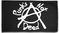 """Zur Fahne / Flagge (ca. 150x100cm) """"Punks not Dead (Anarchy)"""" für 16,00 € gehen."""