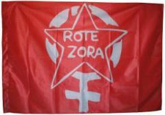 """Zur Fahne / Flagge (ca 150x100cm) """"Rote Zora"""" für 13,00 € gehen."""