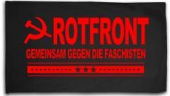 """Zur Fahne / Flagge (ca. 150x100cm) """"Rotfront - Gemeinsam gegen die Faschisten"""" für 15,60 € gehen."""