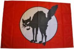 """Zur Fahne / Flagge (ca. 150x100cm) """"Schwarze Katze (mit Kreis)"""" für 13,00 € gehen."""
