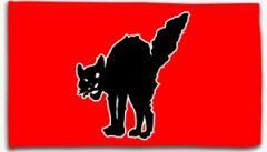 """Zur Fahne / Flagge (ca. 150x100cm) """"Schwarze Katze (rot)"""" für 13,00 € gehen."""