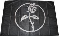 """Zur Fahne / Flagge (ca 150x100cm) """"Schwarze Rose"""" für 13,00 € gehen."""