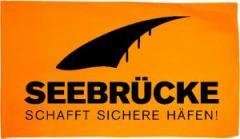 """Zur Fahne / Flagge (ca. 150x100cm) """"Seebrücke (schwarz)"""" für 12,67 € gehen."""
