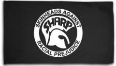 "Zur Fahne / Flagge (ca. 150x100cm) ""Sharp - Skinheads against Racial Prejudice"" für 16,00 € gehen."