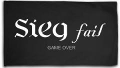"""Zur Fahne / Flagge (ca. 150x100cm) """"Sieg fail"""" für 15,60 € gehen."""