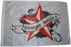 """Zur Fahne / Flagge (ca. 150x100cm) """"Siempre Antifascista"""" für 13,00 € gehen."""