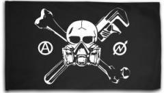 """Zur Fahne / Flagge (ca. 150x100cm) """"Skull - Gasmask"""" für 16,00 € gehen."""