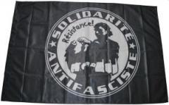 """Zur Fahne / Flagge (ca 150x100cm) """"Solidarité Antifasciste"""" für 13,00 € gehen."""