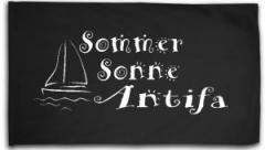 """Zur Fahne / Flagge (ca. 150x100cm) """"Sommer Sonne Antifa"""" für 15,60 € gehen."""