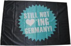 """Zur Fahne / Flagge (ca 150x100cm) """"Still not loving Germany!"""" für 13,00 € gehen."""
