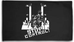 """Zur Fahne / Flagge (ca. 150x100cm) """"Stop Control"""" für 16,00 € gehen."""