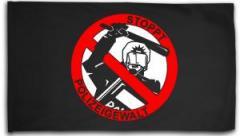 """Zur Fahne / Flagge (ca. 150x100cm) """"Stoppt Polizeigewalt"""" für 16,00 € gehen."""