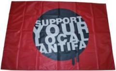 """Zur Fahne / Flagge (ca. 150x100cm) """"Support your local Antifa"""" für 12,67 € gehen."""