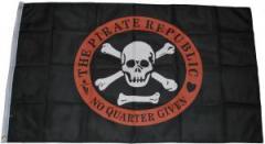 """Zur Fahne / Flagge (ca. 150x100cm) """"The Pirate Republic - No Quarter Given"""" für 13,00 € gehen."""