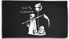 """Zur Fahne / Flagge (ca. 150x100cm) """"Tod und Tötchen"""" für 16,00 € gehen."""