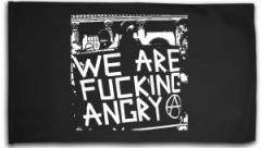 "Zur Fahne / Flagge (ca. 150x100cm) ""We are fucking Angry!"" für 16,00 € gehen."