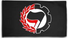 """Zur Fahne / Flagge (ca. 150x100cm) """"Working Class Antifa"""" für 16,00 € gehen."""