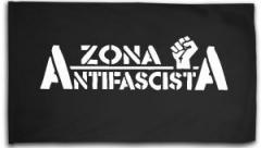 """Zur Fahne / Flagge (ca. 150x100cm) """"Zona Antifascista"""" für 15,60 € gehen."""