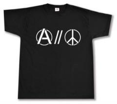 """Zum T-Shirt """"Anarchy and Peace"""" für 12,67 € gehen."""