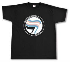 """Zum T-Shirt """"Anti-Transphobia Action"""" für 13,00 € gehen."""