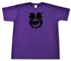 """Zum T-Shirt """"Antifa Einhorn Brigade (schwarz)"""" für 13,00 € gehen."""